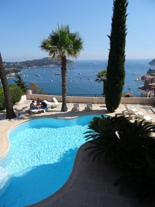 Photo for Apartment 4 * panoramic view bay of Villefranche, swimming pool and parking