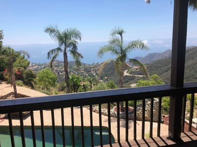 Photo for Malibu villa in Santa Monica mountains by stunt ranch at the top of the cliffes