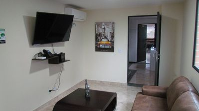 Photo for 1 Bedroom King Bed Hot tub AC, Good wifi
