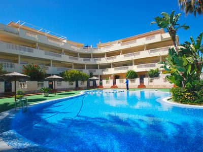 Photo for apartment only 100 m to the beach, community pool, internet, dishwasher