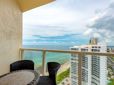 Photo for Magnificent ocean views! Modern, corner unit. Floor to ceiling windows! WOW!