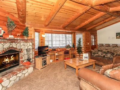 Photo for Log Haven At Bear Mountain: 3 BR / 2 BA home in Big Bear Lake, Sleeps 7