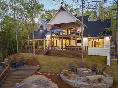 Photo for Emerald Cove at Smith Lake: 7BR house, sleeps 18+, beautiful channel views!