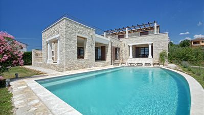 Photo for Luxury stone villa with large private pool and garden and beautiful scenic views
