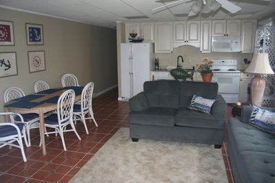 Living room/ Dining and Kitchen Area
