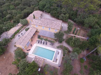 Photo for Beautiful Farmhouse built on 8 000m2 in a dominant position in the Massif des Maures.