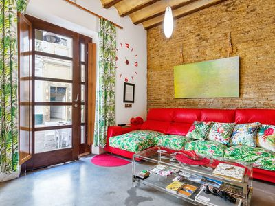 Photo for Historic yet Modern Apartment with Air-Conditioning and Wi-Fi; 2 Minutes from Beach
