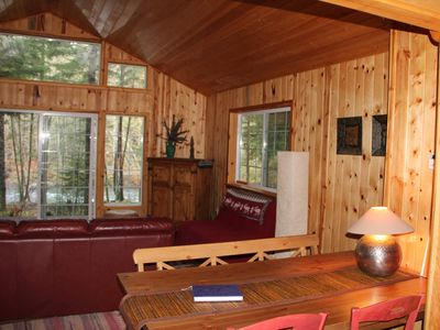 Photo for Riverfront Cabin with Panoramic Views, Hot Tub & Seclusion