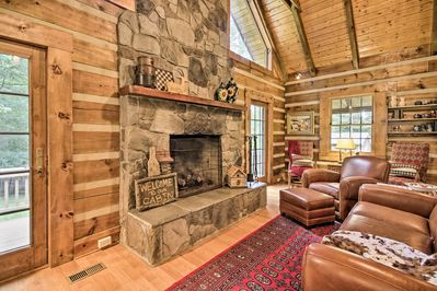 Cozy up beside the wood-burning fireplace while family favorites play on TV!