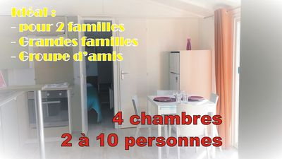 Photo for Between beach & nature - Mobil-Home 2 to 10 people in 1 campsite 4 stars
