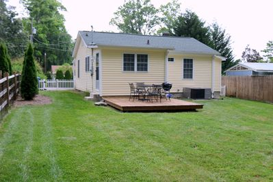 Enjoy relaxing and grilling out on the back deck.
