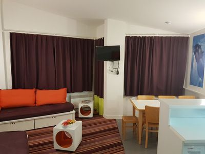 Photo for App 45m², towels included, on slopes, 2 bedrooms, 2 bathrooms, separate WC, washing machine