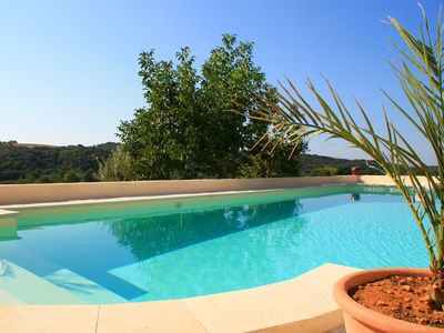Photo for Superb Suite in Ground Floor Villa with Heated Pool in Valensole in Provence