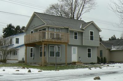 Built in 2012 this home offers a spectacular view of Edinboro Lake.