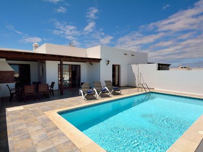 Photo for Beautiful holiday home in Playa Blanca with views of volcanoes and the sea