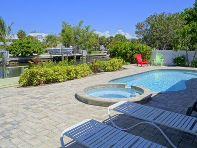 Photo for Lazy Lagoon: Canalfront 2Bed w/Dock, Heated Pool & Hot Tub...1.5 Blocks to Beach