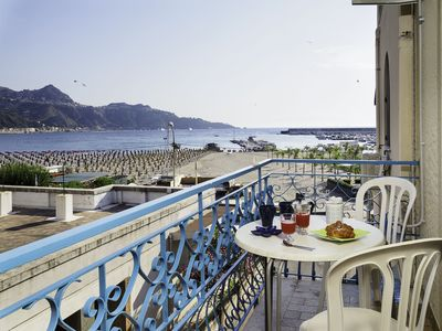 Photo for Panoramic Apartment in the Heart of Giardini Naxos 20 m to the Beach