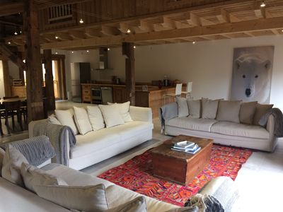 Photo for The Chalet in the Stars | Living room of 100m2 | Gondola lift