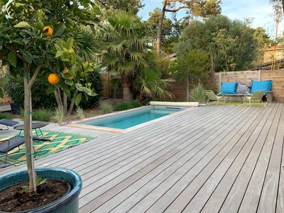 Photo for House with pool in the center cap ferret
