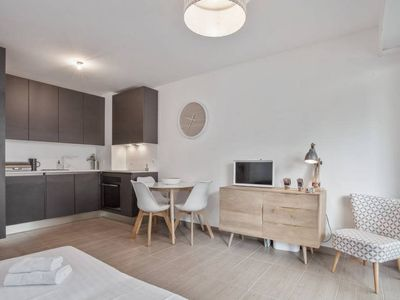 Photo for Juan-les-Pins: Splendid brand new 1 bedroom in front of the beach