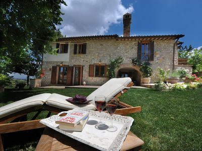 Photo for Gorgeous 18th Century Stone Villa, Stunning Views, Pool, Wifi