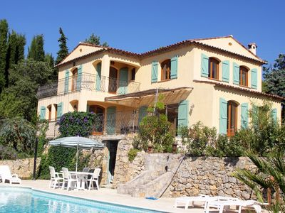 Photo for 470m to town centre and restaurants, superb new villa with private pool
