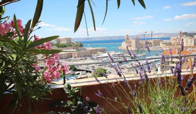 Photo for 2 floors apartment with panoramis terrace over the Vieux Port