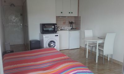 Photo for 20m2 studio downtown, terrace nice view, quiet, fully equipped and free WiFi