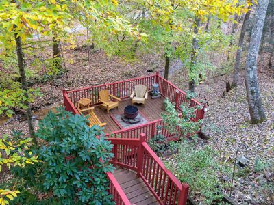 Photo for Mountain log cabin w/ hot tub, fireplace & firepit -- pet-friendly!