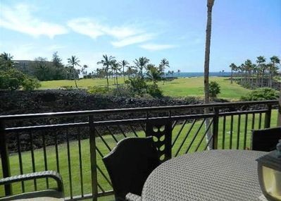 Dining on the Lanai with Ocean Views