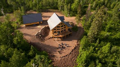 New Log Home on 10 acres with Unreal Views of Lake Superior
