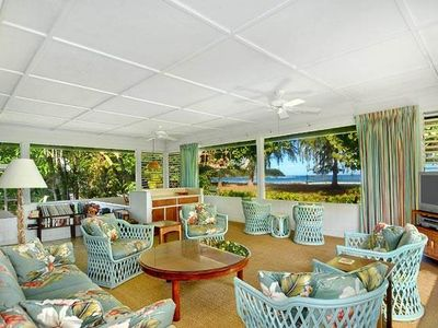 Photo for Hanalei Bay Oceanfront Spacious Home