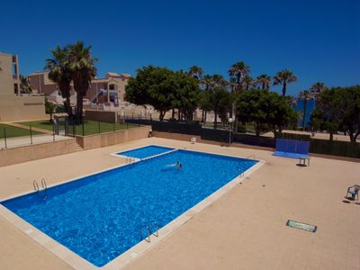 Photo for Fantastic apartment with pool in Cabo Cervera