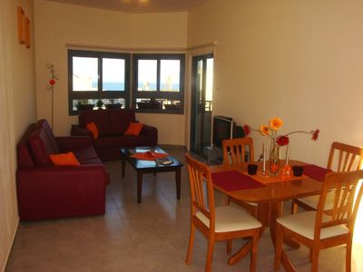 Photo for Lovely holiday apartment Kapparis. Sea view. Near beach, restaurants & shops.