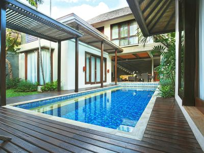Photo for Two Bedroom Villas with private Pool three minute walk from Seminyak Beach