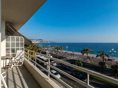 Photo for Fabulous Beach Front Apartment in the Heart of the City of Nice