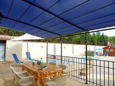 Photo for 2 bedroom Villa, sleeps 4 in Flassan with Pool and WiFi