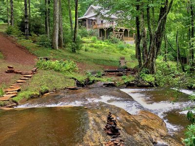 Photo for 4 acres rushing b'yard stream. In between Gorges State Park & Whitewater Falls!