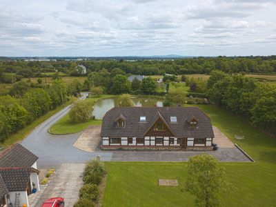 Photo for Stunning 7 bedroom lakeside lodge in beautiful Shannon countryside - Roscommon