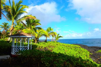 Enjoy the ocean side gazebo where you can read, picnic, watch whales, rest, etc.
