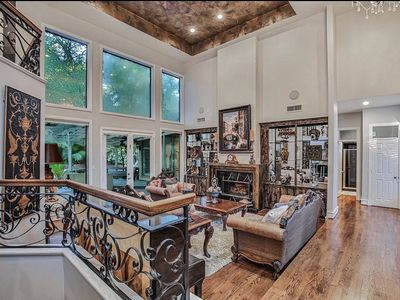 Photo for Stunning custom home sited on very private lot with pool/spa