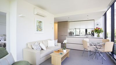 Photo for St Kilda Rd apartment - light filled and lovely