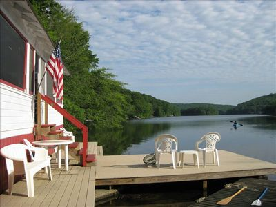 Photo for Waterfront Cottage at the very edge of a large lake. Near Mystic and Foxwoods