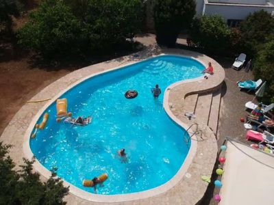 The glorious pool with plenty of space for everyone.