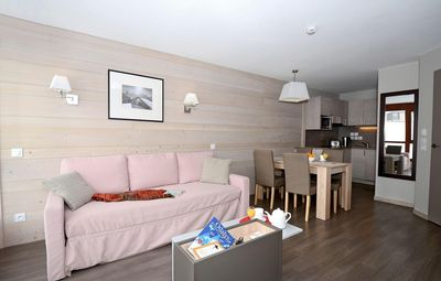 Photo for Surface area : about 35 m². Living room with 2 beds. Bedroom with 2 beds