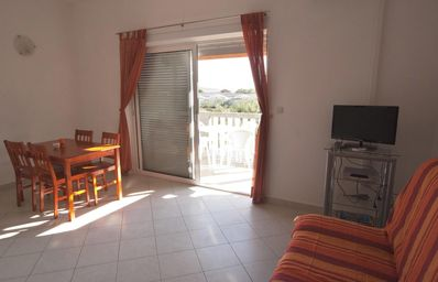 Photo for One bedroom apartment with terrace and sea view Bibinje, Zadar (A-17855-b)