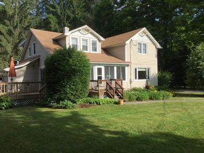 Photo for Spacious 1940's cottage in Stone Ridge on dead end road with inground pool.