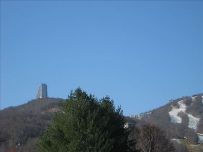 A view of Sugar Top & slopes from the bottom.