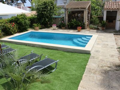 Photo for House for 8 with pool, just 250m from the beach, Playas de Muro / Port Alcudia