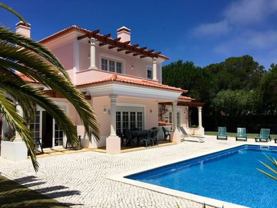 Photo for Sunny private villa with large pool which can be heated, garden, WiFi & BBQ